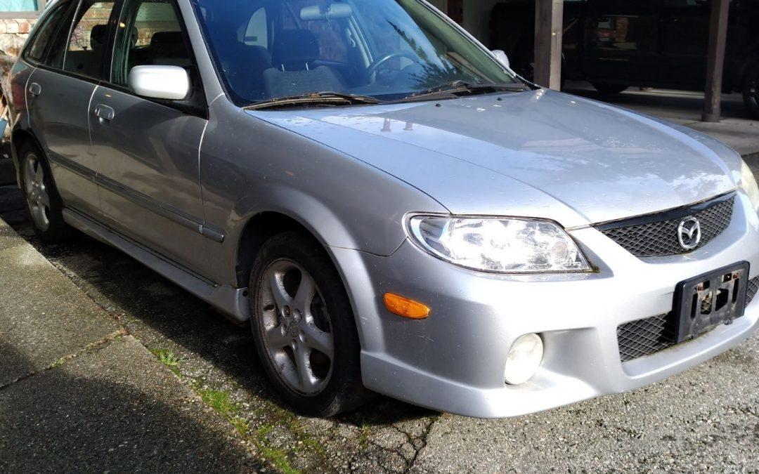 2002 Mazda donated to charity