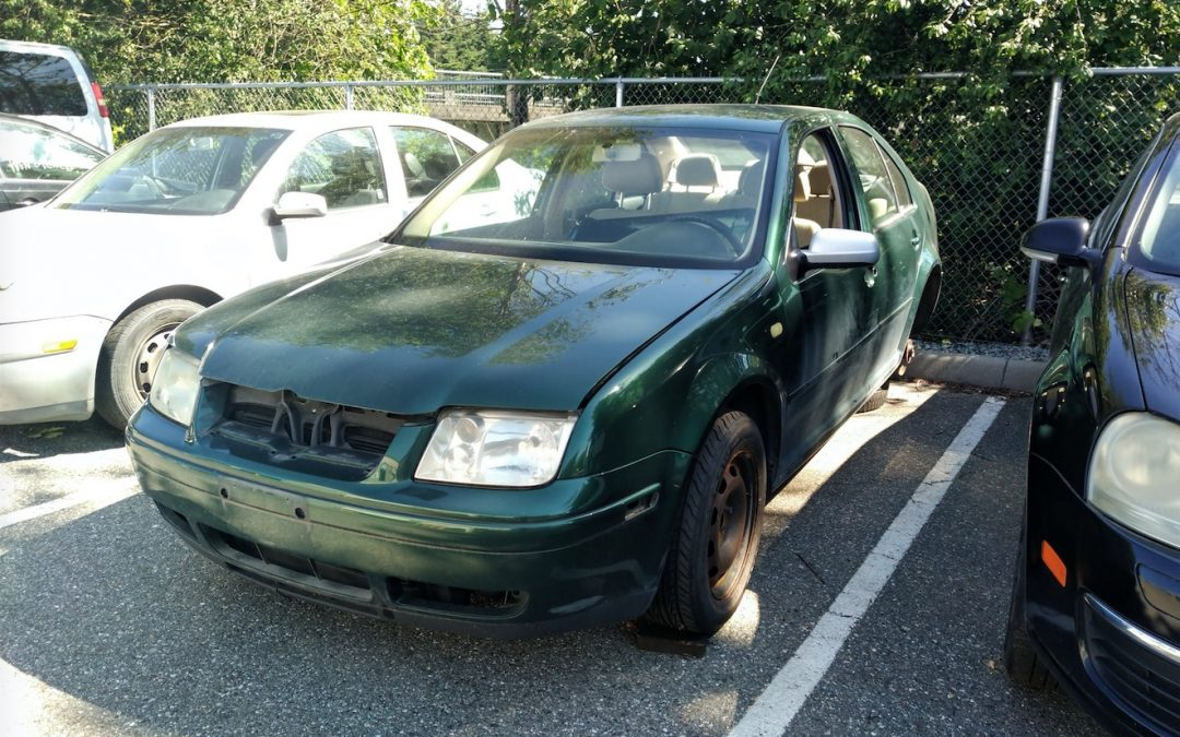 2000 Green Jetta Donated to Abbotsford Cyrus Centre by Tim at Wolfsburg Auto