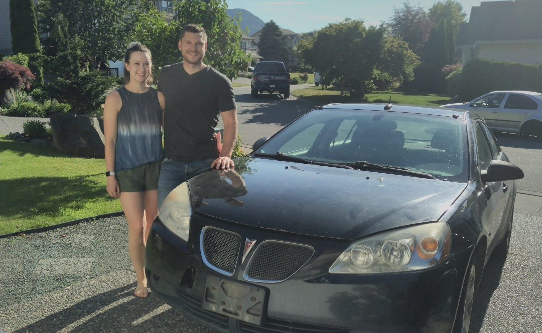 Photo of Taylor from Chilliwack donating her vehicle to Teen Challenge in Chilliwack
