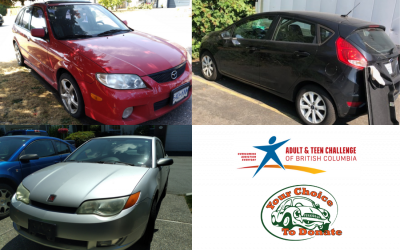 Arlene, James & Timothy Donate Vehicles To Adult & Teen Challenge BC Charity