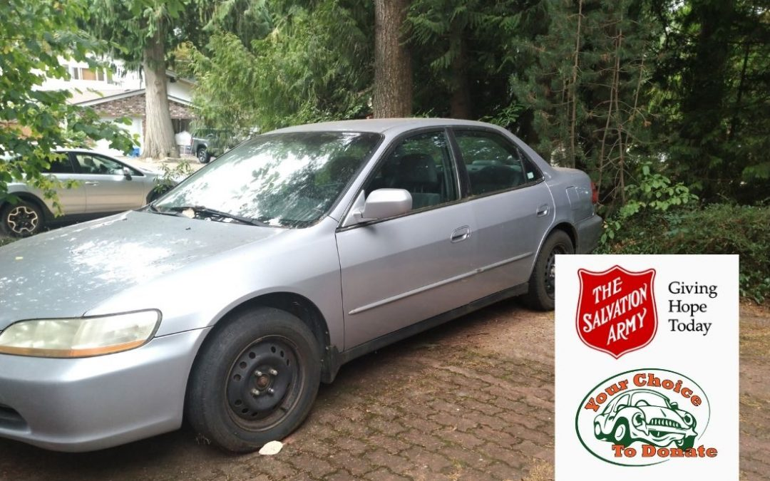 2000 Honda Accord Donated To Salvation Army Gateway Of Hope In Langley