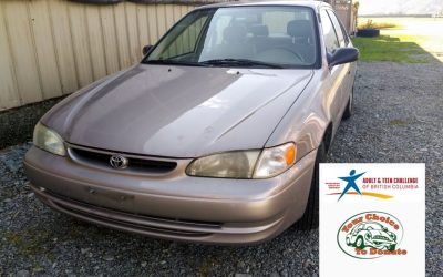 Our Thanks To Zachary From Abbotsford For Donating His 1998 Toyota Corolla To Teen Challenge